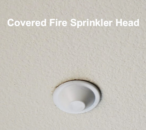 Covered Home Fire Sprinkler System Head