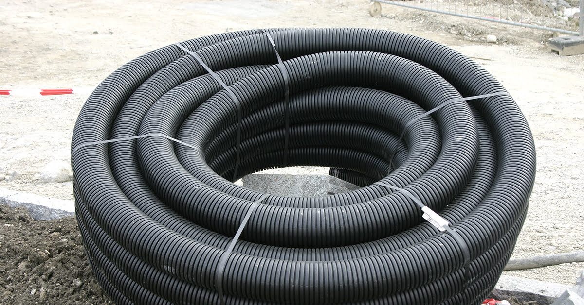 ABS flexible drain pipe to move El Nino water away from foundation