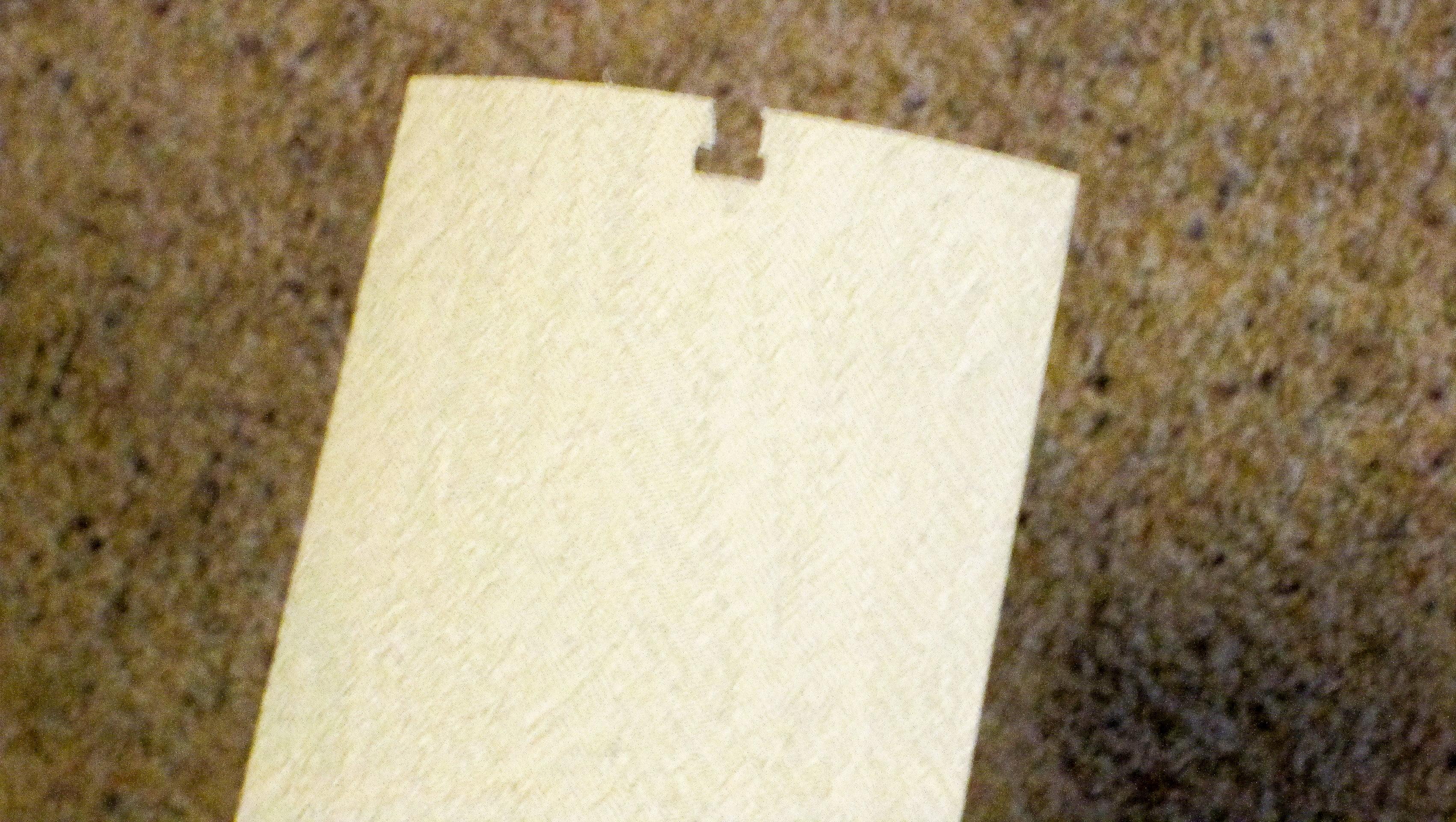 Broken Vertical Blind Vane