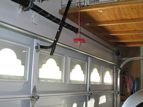 garage door release cord is easy pickins for burglars
