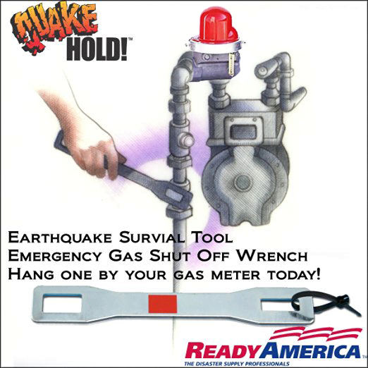 Quakehold - Emergency Earthquake Gas Meter Main Shut Off Tool