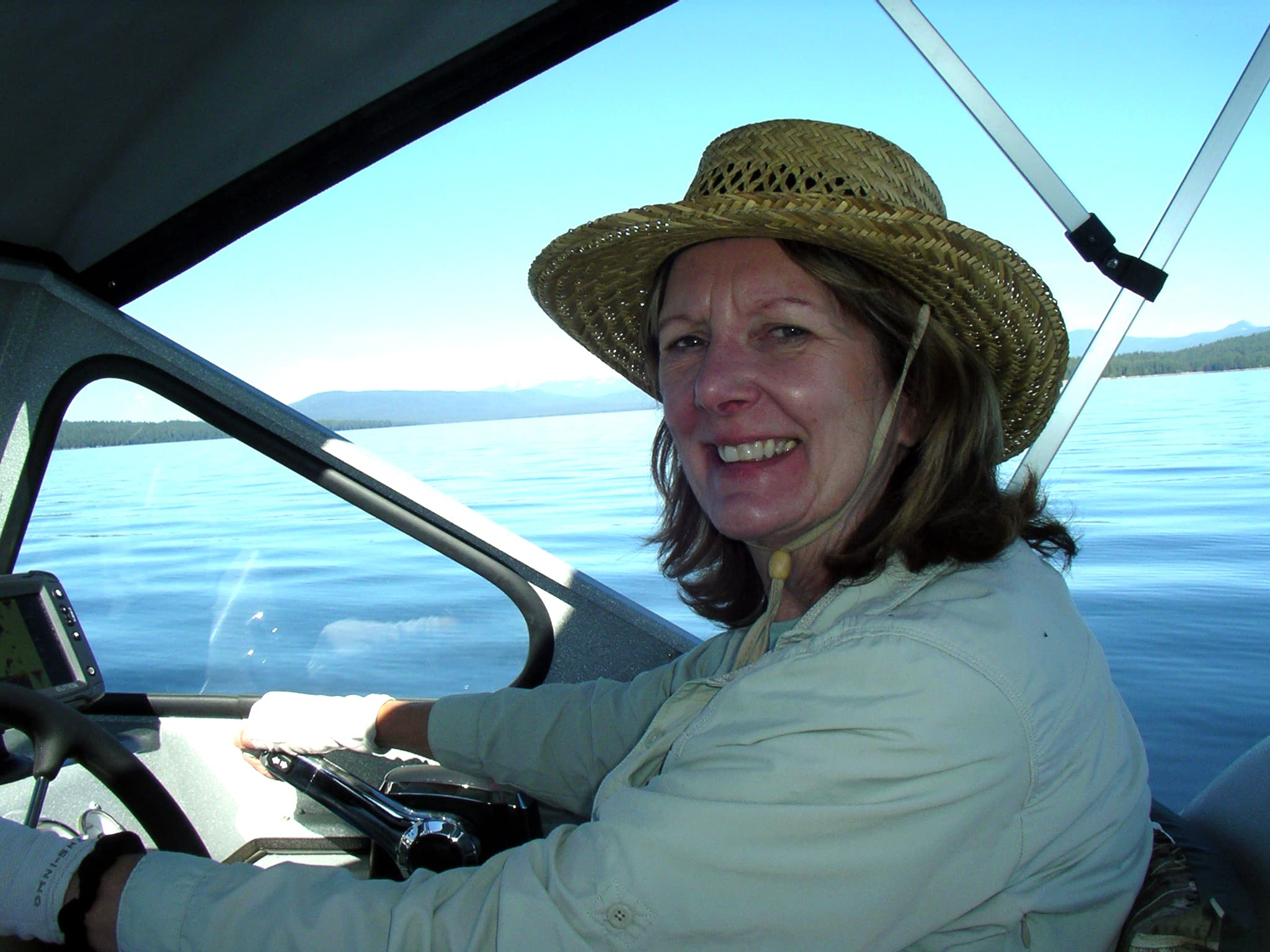 Libby Guthrie at the Wheel