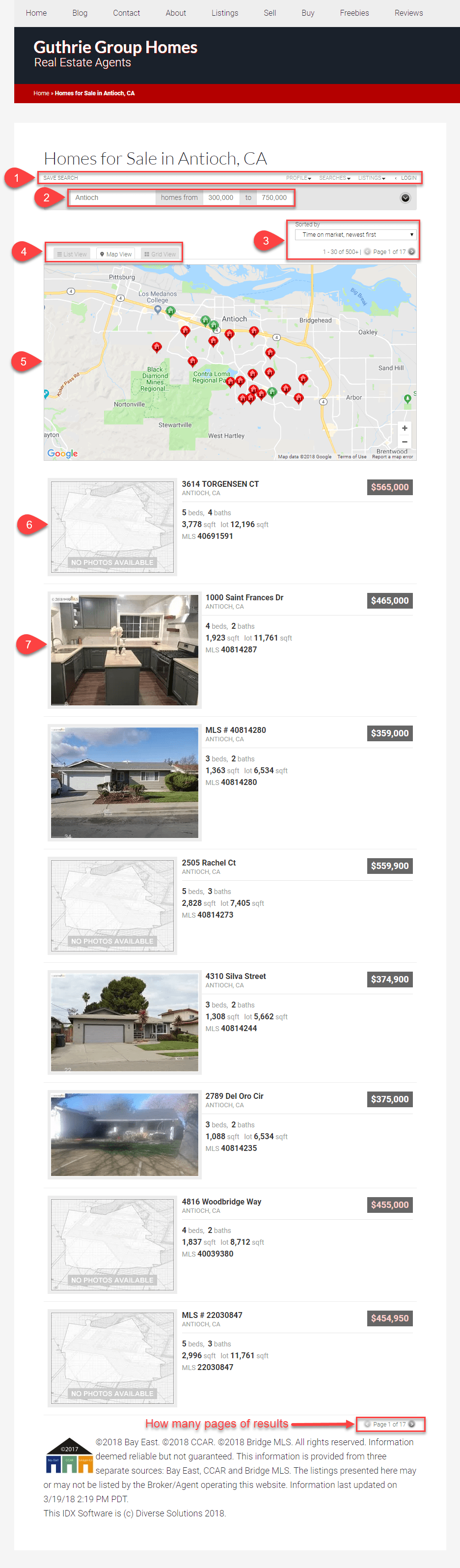 MLS Search results for Homes in Antioch