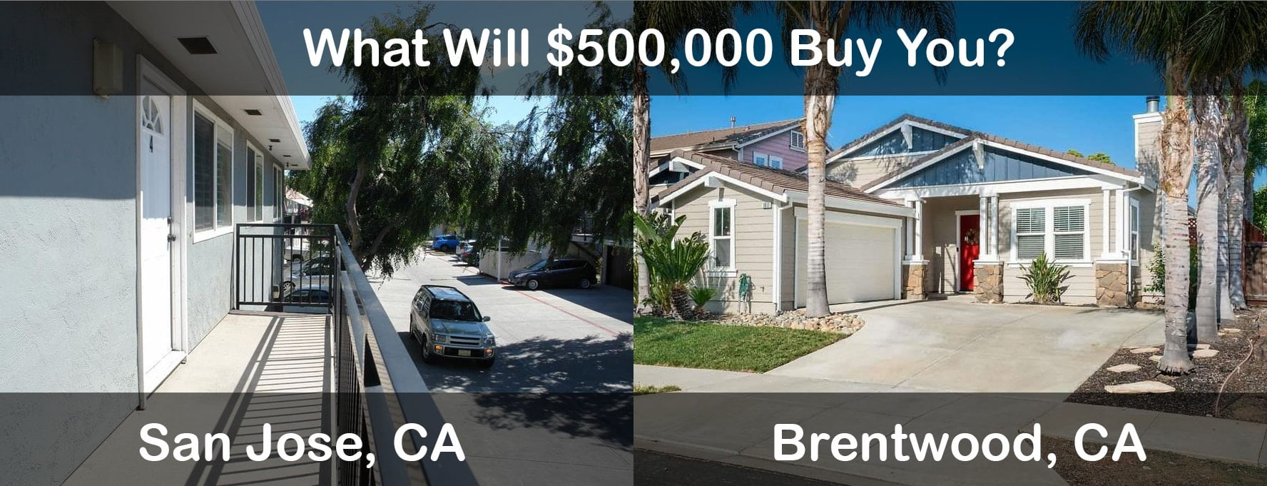 What Kind of House $500,000 Will Buy You In Brentwood, CA vs. San Jose, CA