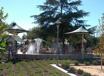 Brentwood's City Park water feature