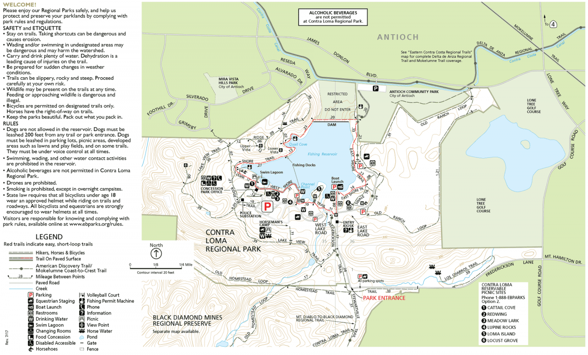 Contra Loma Park Map