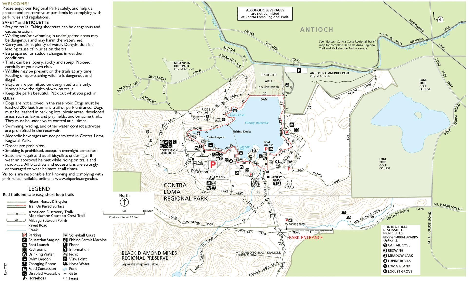 Contra Loma Park Map