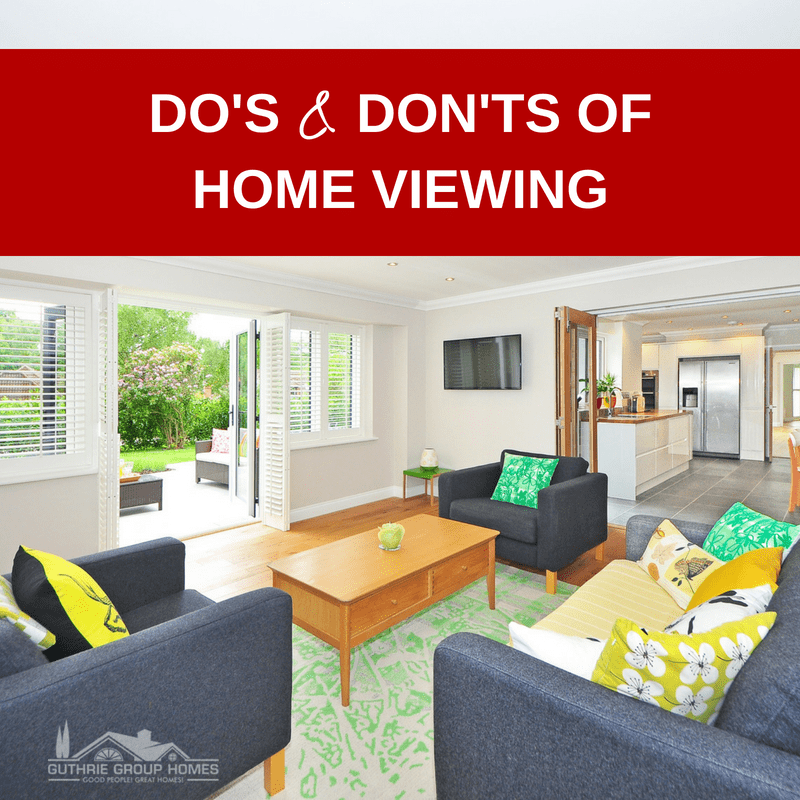 Do's and Don'ts of Home Viewing