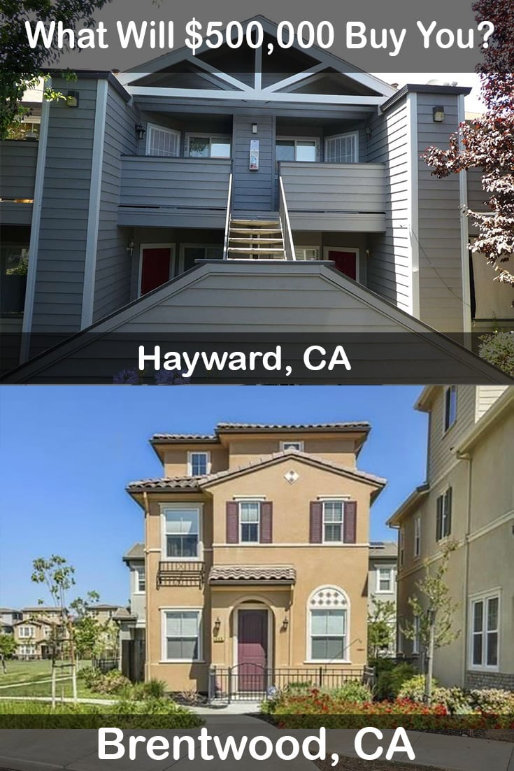 Libby and Ken go comparison shopping for homes in Hayward Ca and Brentwood Ca with a budget of $500k. Check out what they found. #brentwood-ca #hayward-ca #realtor #realestate #homebuyer #homeowner