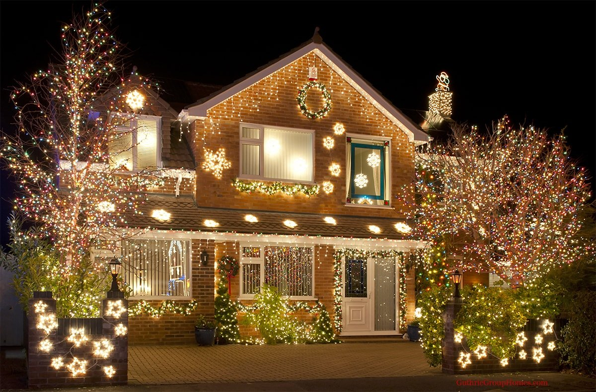 A home decorated for the holidays may sell easier and faster than during the summer months