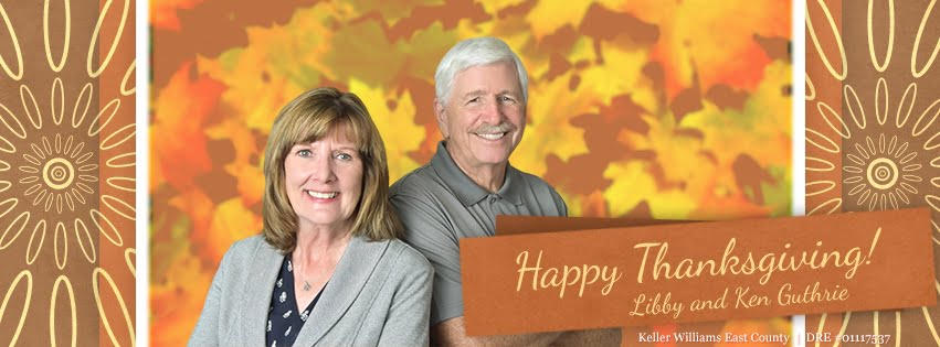 Happy Thanksgiving from Libby and Ken Guthrie, Guthrie Group Homes, Real Estate