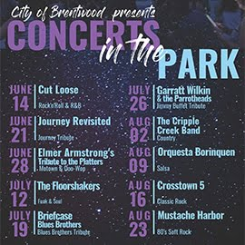 Concerts in the Park Brentwod Flyer