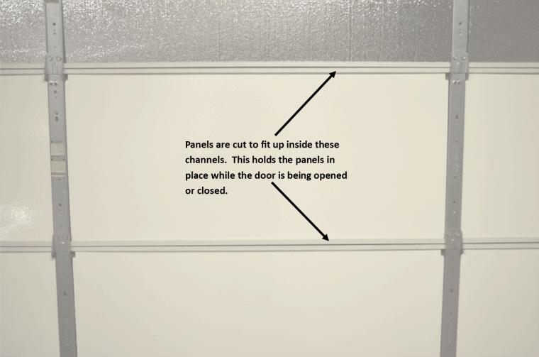 How insulation panels fit in the garage door panels