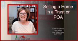 Selling a home in a trust or with a Power of Attorney