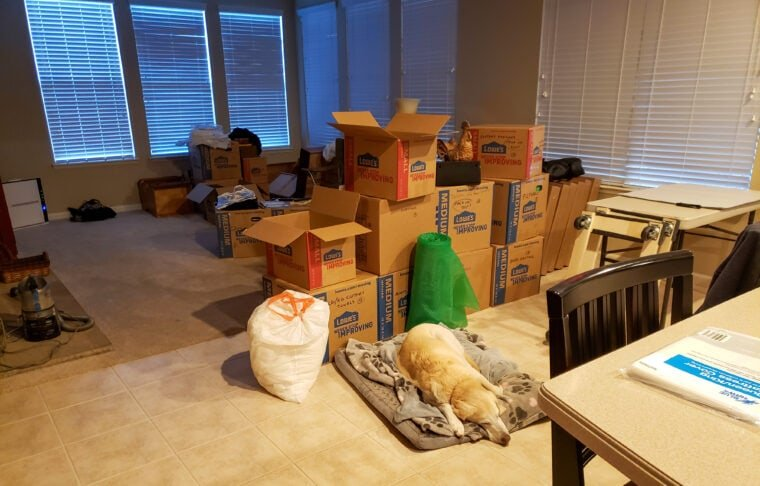 Boxing up to Move